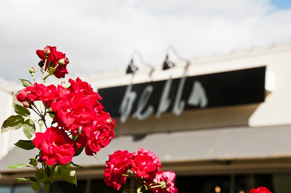 Bella Salon building exterior and flowers