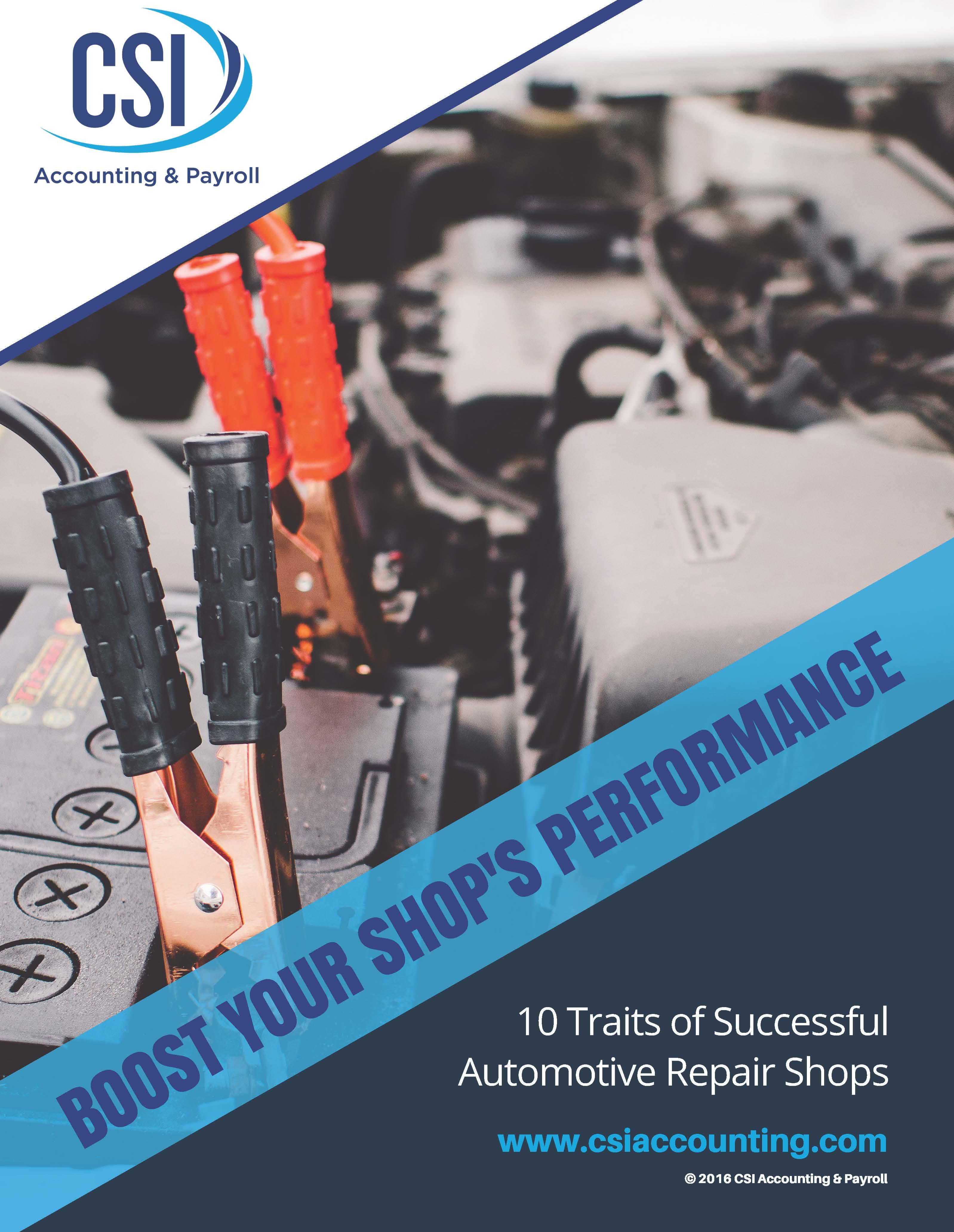 10 Traits of Successful Automotive Repair Shops eBook Cover