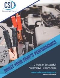 10 Traits of Successful Automotive Repair Shops Ebook Cover