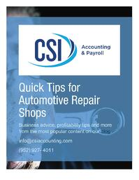 Quick Tips for Automotive Repair Shops eBook Cover