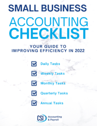 Small Business Accounting Checklist (REMADE FOR 2022)
