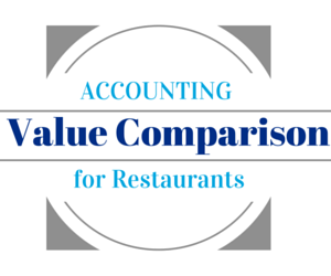 Accounting Value Comparison Chart For Restaurants Logo